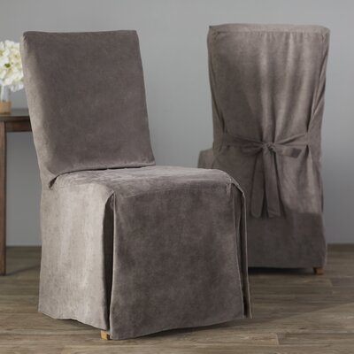Dining Chair Regular Slipcover (Set of 2) Upholstery: Grey