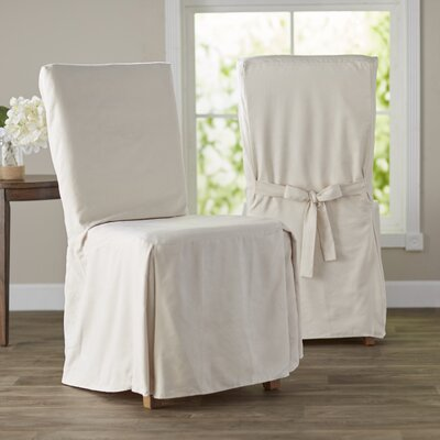 Dining Chair Regular Slipcover (Set of 2) Upholstery: Ivory