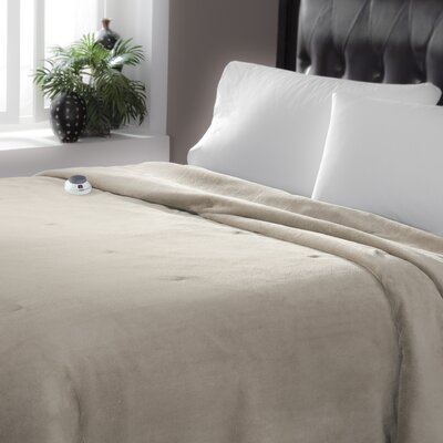 Serta Luxe Plush Micro Fleece Electric Blanket Color: Topaz, Size: Full