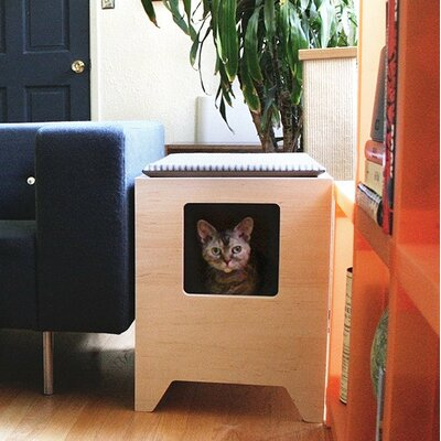 Modern Litter Box Enclosure Color: Maple