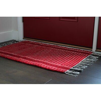 Wharton Hand-Woven Red Area Rug