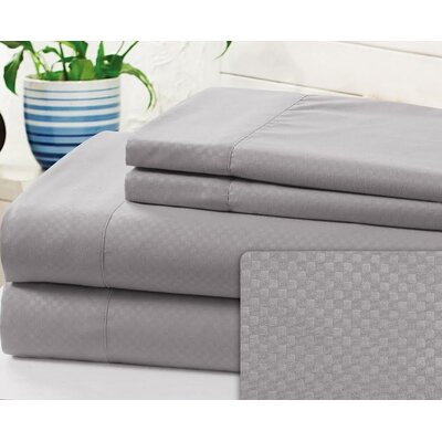Crumbley Check Microfiber Sheet Set Size: Full, Color: Gray