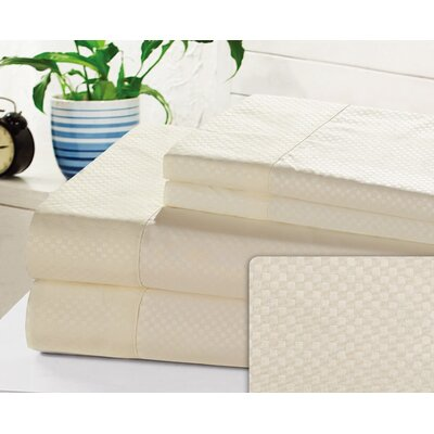 Crumbley Check Microfiber Sheet Set Size: Twin, Color: Ivory