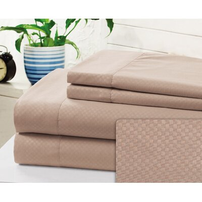 Crumbley Check Microfiber Sheet Set Size: Queen, Color: Taupe