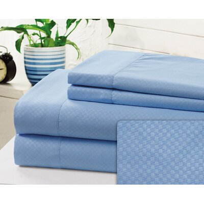 Crumbley Check Microfiber Sheet Set Size: Full, Color: Blue