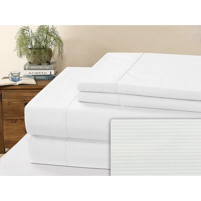 Kilburn Microfiber Sheet Set Size: Full, Color: White