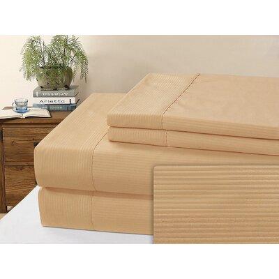 Kilburn Microfiber Sheet Set Size: Full, Color: Taupe