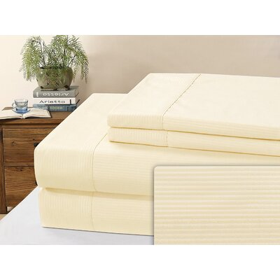 Kilburn Microfiber Sheet Set Size: Full, Color: Ivory