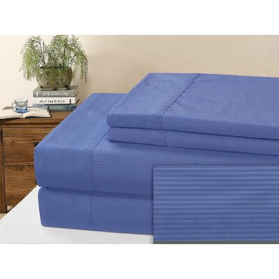 Kilburn Microfiber Sheet Set Size: Full, Color: Blue