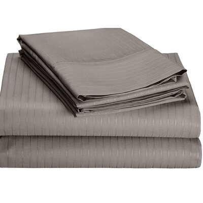 Kilburn Microfiber Sheet Set Size: Full, Color: Gray