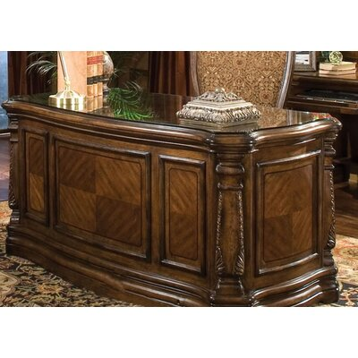 Windsor Court Executive Desk with Glass Top Product Image 10