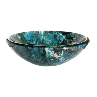 Cliffside Glass Circular Vessel Bathroom Sink
