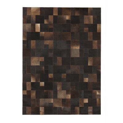 Brilliant Knotted Brown Area Rug Rug Size: 57 x 79