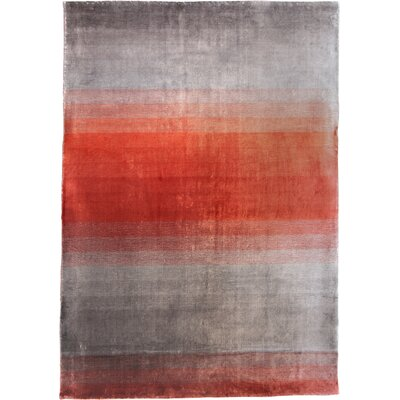 Grace Rouge Red Stripes Area Rug Rug Size: 57 x 79