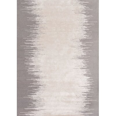 Noam Hand-Knotted Light Gray Area Rug Rug Size: Rectangle 6'6
