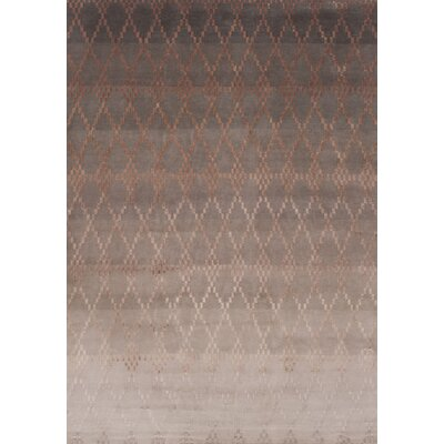 Misty Hand-Knotted Powder Area Rug Rug Size: 57 x 79