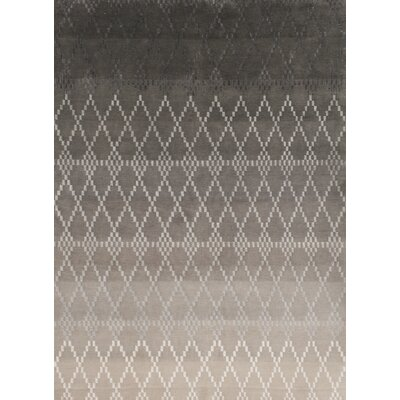 Misty Hand-Knotted Silver Area Rug Rug Size: Rectangle 5'7