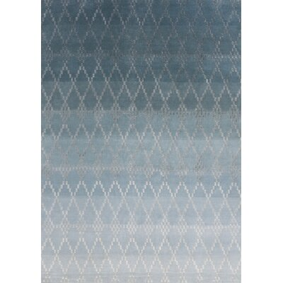 Misty Hand-Knotted Petrol Area Rug Rug Size: Rectangle 66 x 98