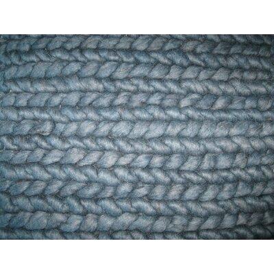 Comfort Hand-Woven Petrol Area Rug Rug Size: 57 x 79