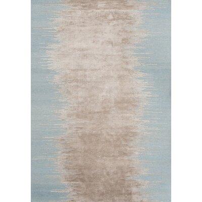Noam Hand-Loomed Aqua Area Rug Rug Size: 66 x 98