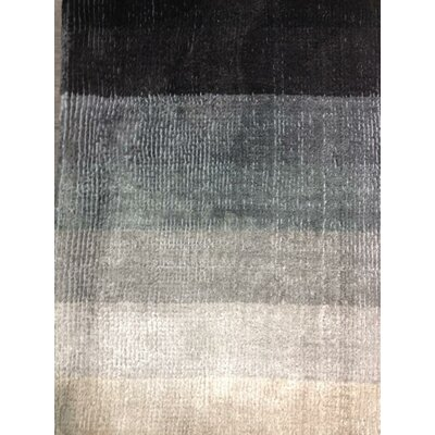 Shiny Hand-Loomed Gray Area Rug Rug Size: 57 x 79