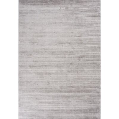 Charm Hand-Loomed Gray Area Rug Rug Size: 5'7