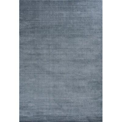 Charm Hand-Loomed Blue Area Rug Rug Size: 66 x 98