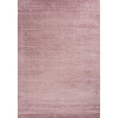 Charm Hand-Loomed Rose Area Rug Rug Size: 66 x 98