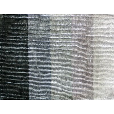 Shiny Hand-Loomed Gray Area Rug Rug Size: Rectangle 57 x 79