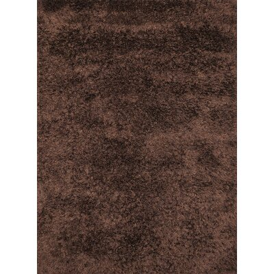 Ronaldo Chocolate Area Rug Rug Size: 6'6
