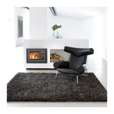 Ronaldo Charcoal Area Rug Rug Size: Rectangle 66 x 98