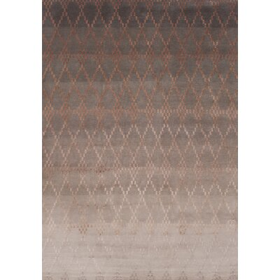 Misty Hand-Knotted Powder Area Rug Rug Size: 66 x 98