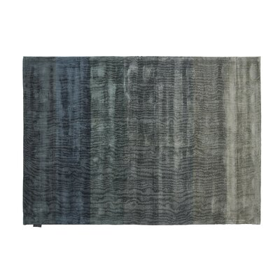 Shiny Hand-Loomed Petrol Area Rug Rug Size: Rectangle 66 x 98