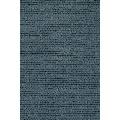 Comfort Hand-Woven Petrol Area Rug Rug Size: Rectangle 57 x 79