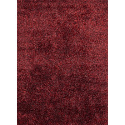 Ronaldo Dark Red Area Rug Rug Size: 57 x 79