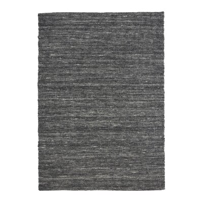Shena Hand Woven Wool Charcoal Area Rug Rug Size: 57 x 79