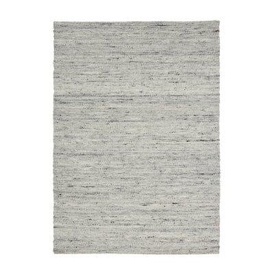 Shena Hand Woven Wool Light Gray Area Rug Rug Size: 66 x 98