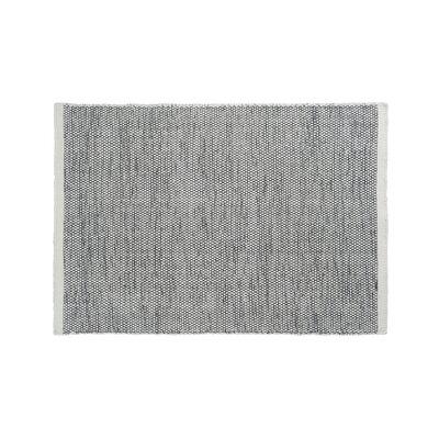 Mariya Hand Woven Wool Gray Area Rug Rug Size: 57 x 79