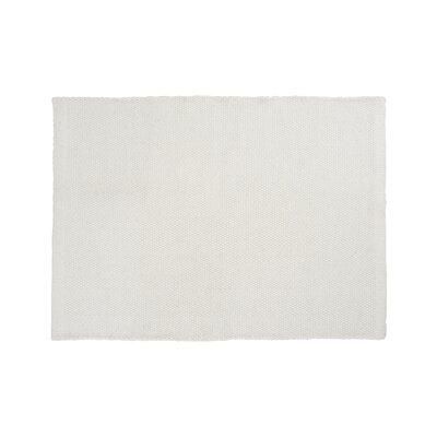 Mariya Hand Woven Wool White Area Rug Rug Size: 66 x 98