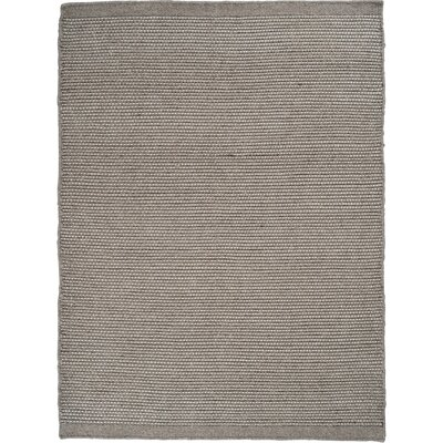 Mariya Solid Hand Woven Wool/Cotton Gray Area Rug Rug Size: 57 x 79