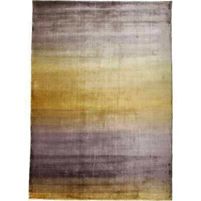 Grace Yellow Stripe Area Rug Rug Size: 57 x 79