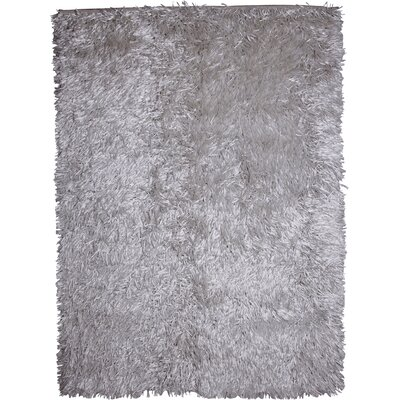Treasure Solid White Area Rug Rug Size: 57 x 79