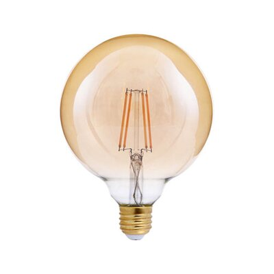 40W Equivalent Amber E26 LED Globe Edison Light Bulb