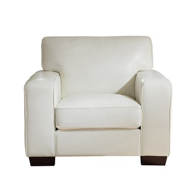 Van Nest Leather Club Chair Upholstery: Ivory White