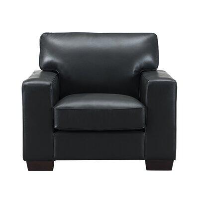 Van Nest Leather Club Chair Upholstery: Black