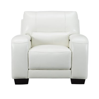 Hadsell Leather Club Chair Upholstery: Ivory White