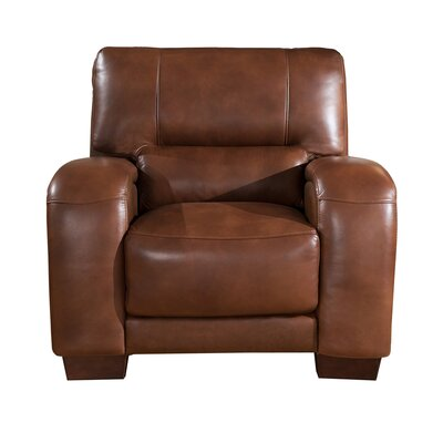 Hadsell Leather Club Chair Upholstery: Brown