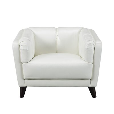 Zainab Leather Club Chair Upholstery: Ivory White