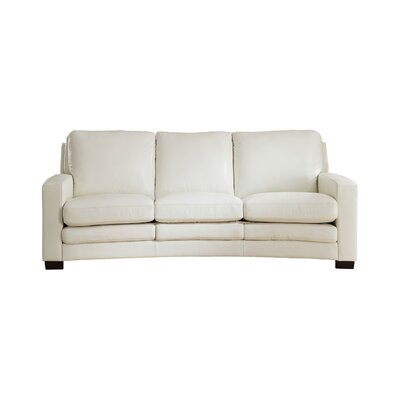 Hadnot Craft Leather Sofa Upholstery: Ivory White