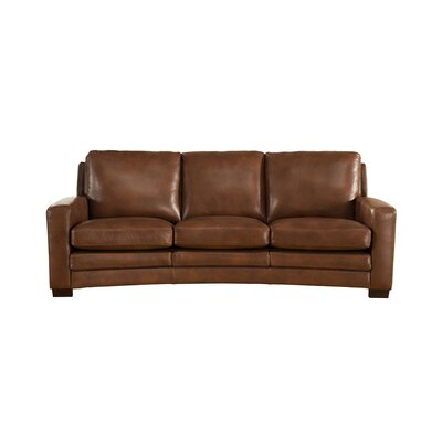 Hadnot Craft Leather Sofa Upholstery: Brown